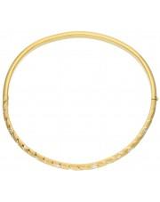 Złota sztywna bransoleta bangla 333