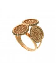 Oryginalny pierścionek z różowego złota