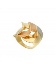 Trójkolorowy złoty pierścionek