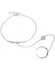 Niezwykła bransoleta z pierścionkiem na łańcuszku