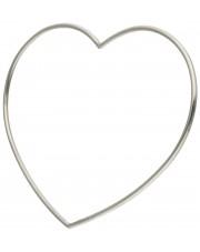Srebrna sztywna bransoletka w kształcie serca