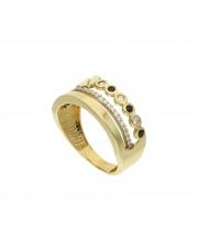 Ciekawy złoty pierścionek 8k