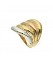 Złoty pierścionek fala 8k