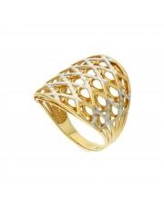 Ażurowy złoty pierścionek