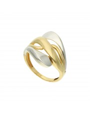 Ciekawy złoty pierścionek 333