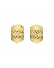 Złote diamentowane kolczyki na angielskim