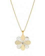Złota zawieszka w kształcie kwiatu