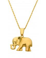 Złota zawieszka słoń
