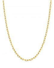 Złoty kuty łańcuszek ankier 50 cm