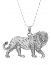 Srebrna zawieszka lew