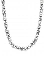 Srebrny gruby kuty łańcuch królewski 65 cm
