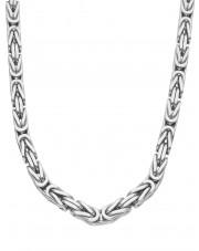 Masywny srebrny łańcuszek o splocie królewskim