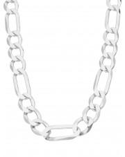 Duży srebrny łańcuszek figaro