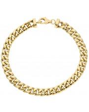 Złota gruba bransoletka pancerka 19 cm
