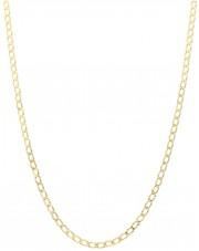 Złoty łańcuszek diamentowana pancerka 45 cm