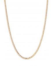 Łańcuszek pancerka z różowego złota 50 cm