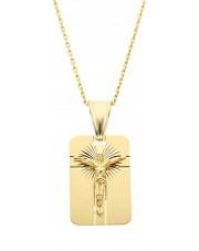 Złoty medalik z wizerunkiem Jezusa