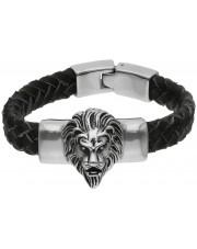Gruba bransoleta z lwem