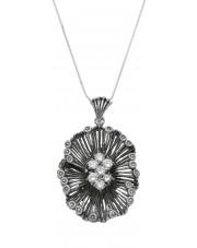 Oryginalna srebrna zawieszka z cyrkoniami