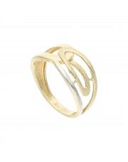 Złoty ażurowy pierścionek