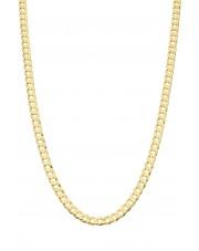 Złoty pełny łańcuszek pancerka  55 cm