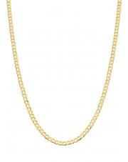 Złoty pełny łańcuszek pancerka 50 cm