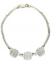 Modułowa srebrna bransoleta z uleksytem
