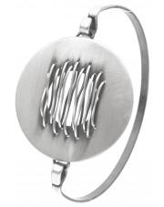Srebrna sztywna bransoleta
