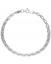 Masywna srebrna bransoleta