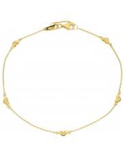 Złota bransoletka na kostkę 24 cm