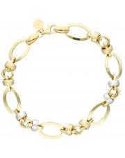 Złota ażurowa bransoleta