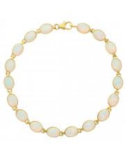 Złota bransoletka z opalem