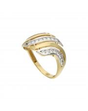 Złoty pierścionek z cyrkoniamii