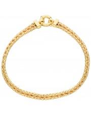 Złota damska bransoletka