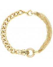 Złota bransoleta z tygrysem