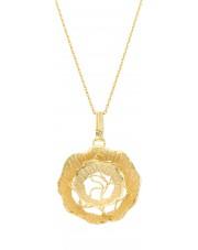Złota zawieszka róża