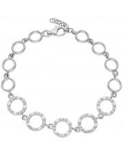 Srebrna bransoleta z pierścieniami