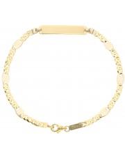 Złota bransoleta z blaszką