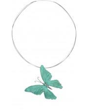 Srebrny naszyjnik z turkusowym motylem