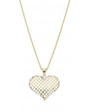 Duża złota zawieszka ażurowe serce