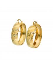 Szerokie złote kolczyki koła