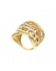 Złoty pierścionek w trzech kolorach