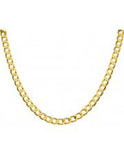 Złoty pełny kuty łańcuch pancerka 55cm