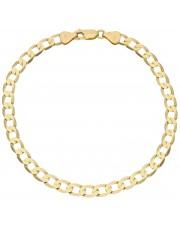 Złota bransoletka pancerka 22 cm