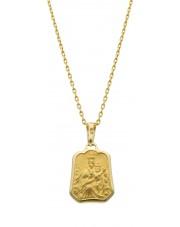 Złoty dwustronny medalik szkaplerz