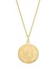 Złoty medalik zawieszka papież Jan Paweł II JPII