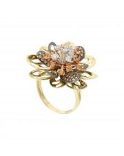 Oryginalny złoty pierścionek kwiat