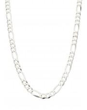 Srebrny łańcuszek figaro 45 cm
