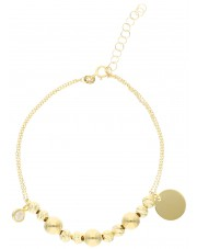 Złota bransoleta z cyrkonią