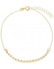 Złota bransoletka z cyrkoniami